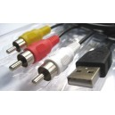 Conexion USB a RCA (Audio y Video) NR-958-7906