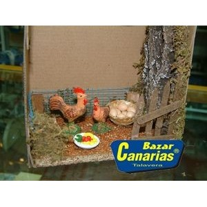 Set decorativo Corral gallinero