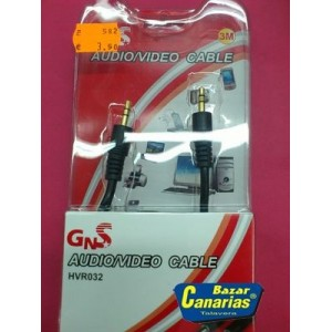 Cable jack 3.5 macho-macho (3 mts) - HVR032