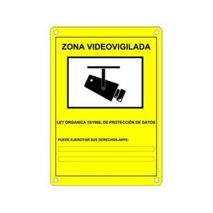 Cartel a4 lopd zona videovigilada bazar canarias - Cartel zona videovigilada ...