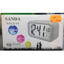 Reloj despertador digital SANDA SD-4018