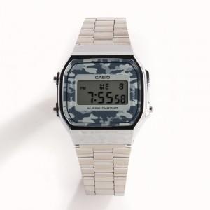 e869c70b5cd1 Reloj Casio metálico plateado A168WEC-1EF
