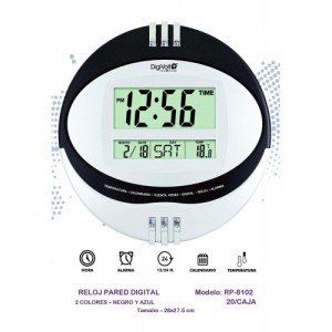 RELOJ DE PARED DIGITAL, DIGIVOLT, RP8102