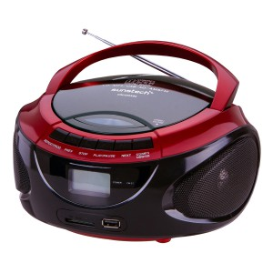 Radio CD Sunstech CRUSM390RD con USB y lector SD